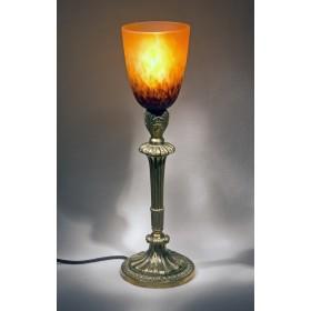 Старинная лампа ЗАКАТ, стекло модерн плафон SCHNEIDER