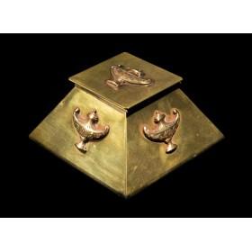 Антикварная чернильница Пирамида, старинные вещи в подарок