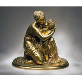 Антикварная скульптура - Венера и Амур Auguste Moreau