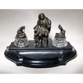 Антикварный чернильный прибор de la Fontaine.