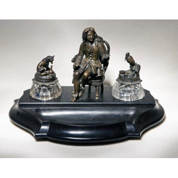 Эксклюзивный антикварный подарок из старинной бронзы, чернильный прибор