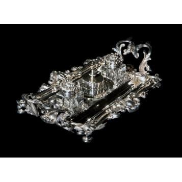 Изысканный чернильный прибор Minerva, покупка и продажа антиквариата в Москве