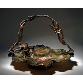 Необычная корзинка-ваза Розы, антиквариат для интерьера