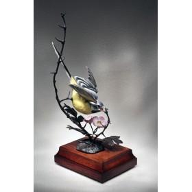 Винтажная статуэтка Желтая трясогузка