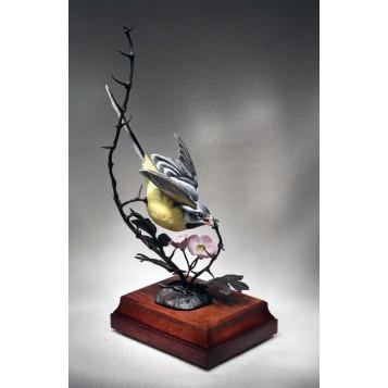 Винтажная статуэтка Желтая трясогузка, антиквариат в подарок