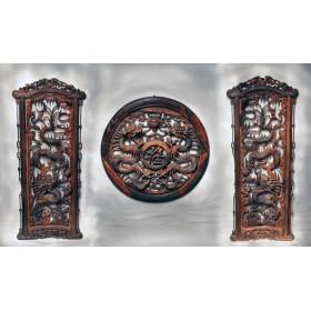 Антикварная храмовая композиция Драконы
