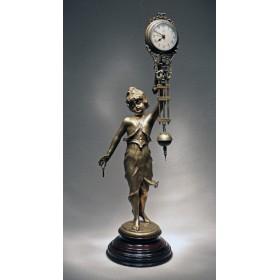 Старинные скульптурные часы Psyche, купить антикварный подарок