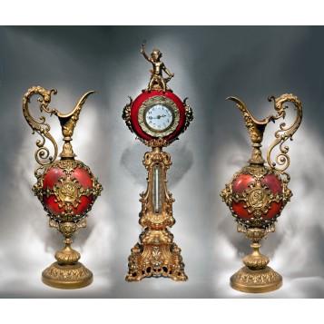 Роскошный часовой гарнитур Byzance, раритетные подарки в Москве