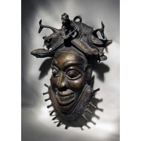 Антикварная ритуальная маска Si