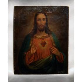 Антикварная картина Пылающее Сердце.