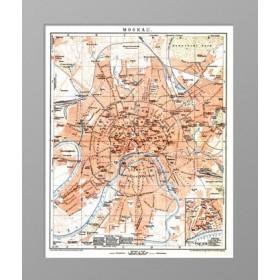 План Москвы.1905 год.