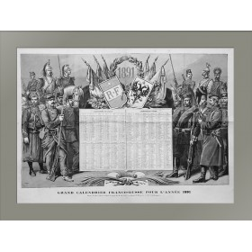 Календарь Россия-Франция. 1891.