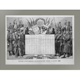 1891 Календарь Россия-Франция