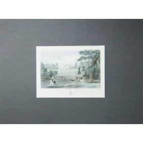 Антикварная гравюра Pains Hill, Surrey, XIX век.Англия.