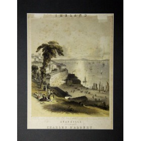 """Старинная литография, обложка для нот """"Кадрилль"""". Англия,1875 год."""