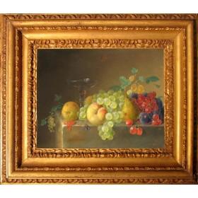 Натюрморт с персиками и виноградом. БЭЛЬ Пьер Франсуа ван.