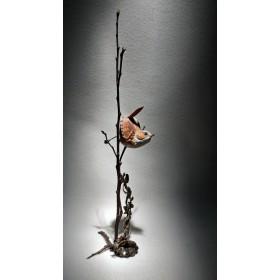 Фарфоровая статуэтка Крапивник