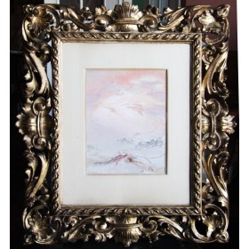 Горный пейзаж графства Йоркшир. Англия, XIX - начало XX в. Художник William Shackleton