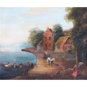 Антикварная жанровая живопись Голландии, XVIII век.