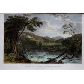 Старинная английская гравюра с изображением водопада около Кокермут