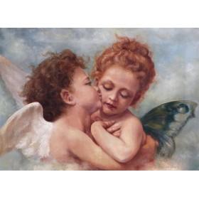 Антикварная картина Амур и Психея