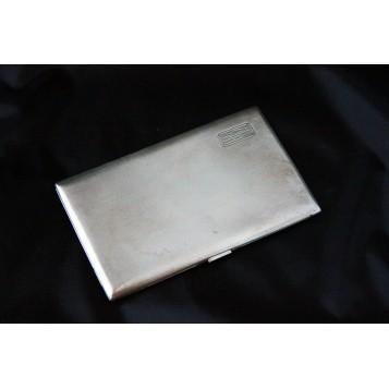 Антикварный серебряный портсигар в стиле Арт Деко, Англия,1920-1921 г.
