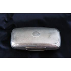 Антикварная английская серебряная шкатулка - портсигар