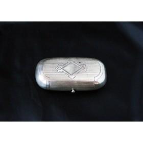Старинный русский серебряный портсигар миниатюрный