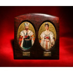 Старинные портреты Императора и Императрицы 1896 г