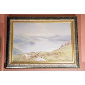 Антикварная картина Пейзаж озера Windermere художника Фредерик Такер (Frederick Tucker)