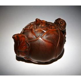 Антикварное окимоно чайник бутон Лотоса