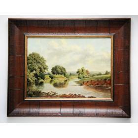 Старинная картина П. Дж. Мкаффери Тихая речка