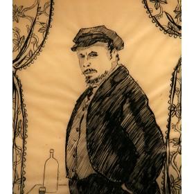 Старинный рисунок Ленин В.И