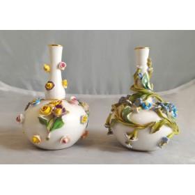Парные фарфоровые вазочки для цветов