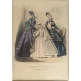 "Гравюра из журнала ""Journal des Demoiselles"""