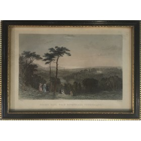 "Гравюра ""Holme hall, near Ravenglass, Cumberland"""