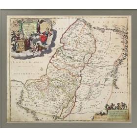 """Старинная карта """"Иудея или Святая земля"""""""