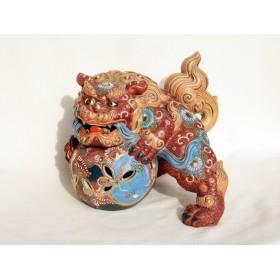 Антикварная статуэтка лев Будды