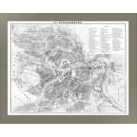 1838 Санкт-Петербург. План города по Дюфуру