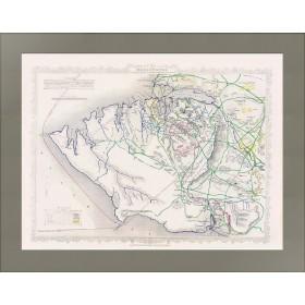 Подробный гравированный план Севастополя. 1855 год. Великобритания.