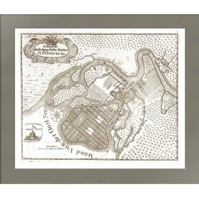 Антикварный план Санкт Петербурга 1744 года
