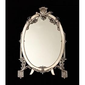 Большое антикварное серебряное зеркало