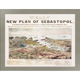 План Севастополя 1855 года выпуска