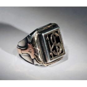 Старинное именное кольцо печатка SH