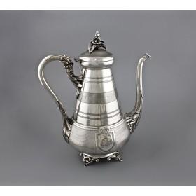 Антикварный серебряный кофейник