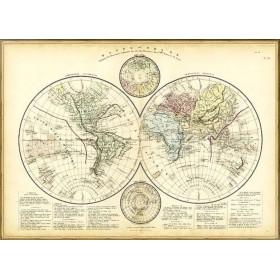 Антикварная карта мира