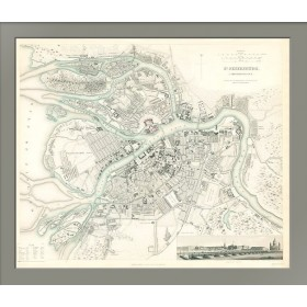 Антикварный план города Санкт-Петербурга