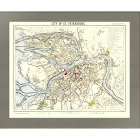 План Санкт-Петербурга конца XIX столетия