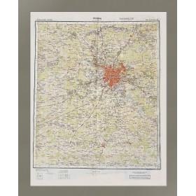 Москва. Военная карта вермахта 1941 года