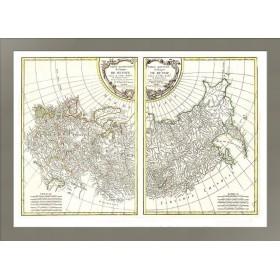 Старинная карта Российской империи 1771 года